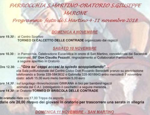 Festa di San Martino 4-11 Novembre 2018
